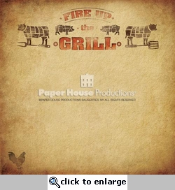 BBQ: Fire Up The Grill 12 x 12 Paper