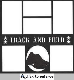 Track And Field 12 x 12 Overlay Laser Die Cut