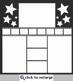 Movie Star Frame 12 x 12 Overlay Laser Die Cut