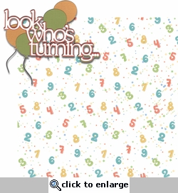 Frosted Wishes: Look Who's Turning... 2 Piece Laser Die Cut Kit