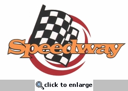 Theme Park and Racing: Speedway Laser Die Cut