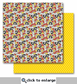 Magic Arrows/Polka 12 x 12 Double-Sided Designer Cardstock