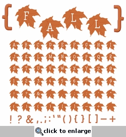 Digital Download: Brown Fall Leaves Alpha Set