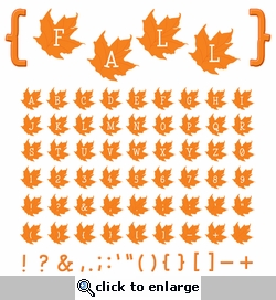 Digital Download: Orange Fall Leaves Alpha Set