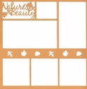 Nature's Beauty 12 x 12 Overlay Laser Die Cut