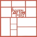 Happy Fall 12 x 12 Overlay Laser Die Cut