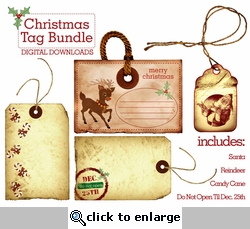 Digital Download: Christmas Tag Bundle