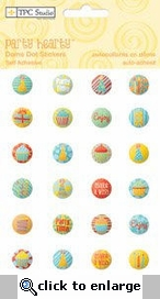 Party Hearty Dome Dot Stickers