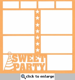 Sweet Party 12 x 12 Overlay Laser Die Cut