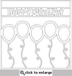 Happy Birthday 12 x 12 Overlay Laser Die Cut