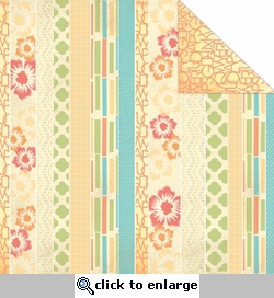 One Fine Day: Stripes 12 x 12 Double-Sided Cardstock