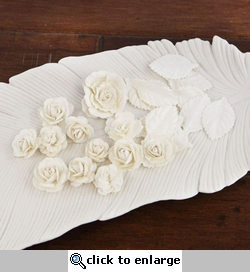 Laraine: Pearl White Flowers and Leaves