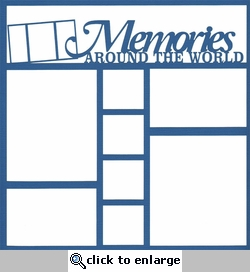 France Memories Around The World 12 x 12 Overlay Laser Die Cut