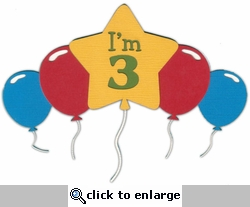 Custom Birthday Balloons Laser Die Cut
