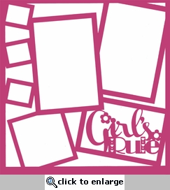 Kids: Girl's Rule 12 x 12 Overlay Laser Die Cut