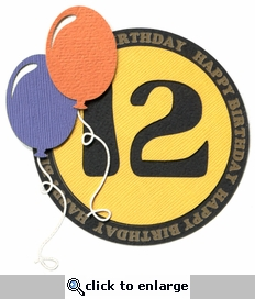 Custom Happy Birthday With Balloons Laser Die Cut
