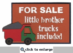 Little Brother Trucks Included Laser Die Cut