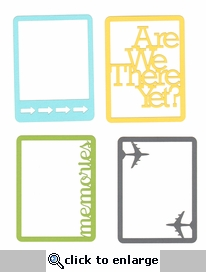 Everyday Life:Travel Journal Card Frame Die Cuts