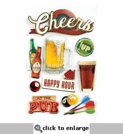 Cheers 3D Stickers
