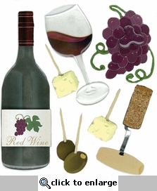 Wine Tasting Jolee's Boutique Dimensional Stickers
