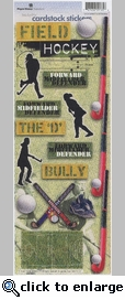 Field Hockey Cardstock Stickers