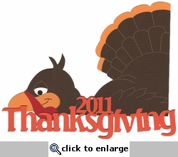 2011 Thanksgiving Laser Die Cut