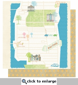 Palm Beach: Great Travels 12 x 12 Double-Sided Paper