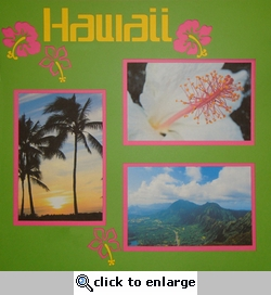 Hawaii Page Overlay Laser Die Cut