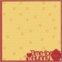 Fantasy Land: Time For Hunny 12 x 12 Overlay Quick Page Laser Die Cut