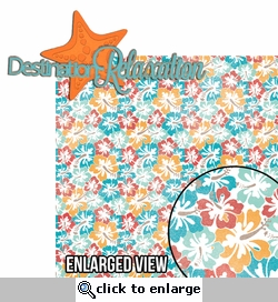 Paradise Found: Destination Relaxation 2 Piece Laser Die Cut Kit