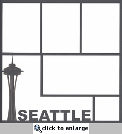 Seattle 12 x 12 Overlay Laser Die Cut