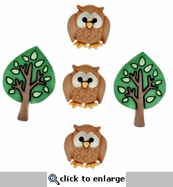 Night Owls Buttons