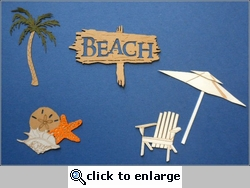 Travel-City: Beach Minis Laser Die Cut