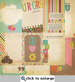 Fabulous: 4 x 6 Vertical Journaling Cards Elements 12 x 12 Double-Sided Paper