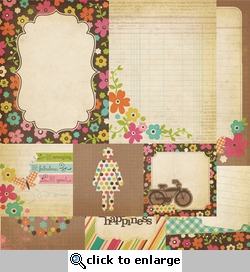 Fabulous: 4 x 4 Quote & 6 x 8 Photo Mat Elements 12 x 12 Double-Sided Paper