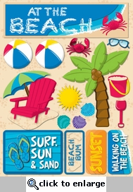 Beach 3D Sticker