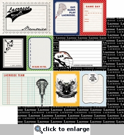 Sports Journal: Lacrosse 12 x 12 Double-Sided Paper