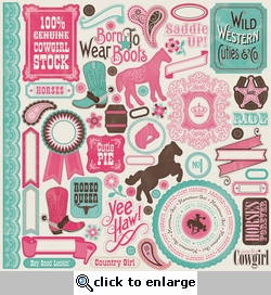 Giddy Up Girl: Element 12 x 12 Sticker Sheet