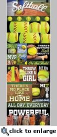 Real Sports: Softball Grpahic Sticker