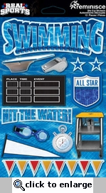 Real Sports: Swimming 3D Sticker