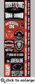 Real Sports: Wrestling Combo Sticker