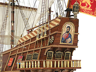 San Marcos Spanish Galleon Stern View