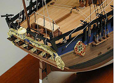 HMS Endeavour Kit Stern View