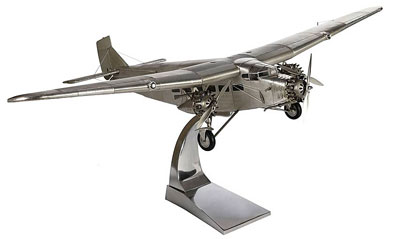Ford Trimotor on metal desk stand