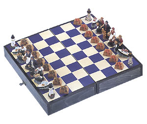 Nautical Chess Set with Lobster Trap Pawns