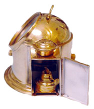 Gimballed Binnacle Compass Side View