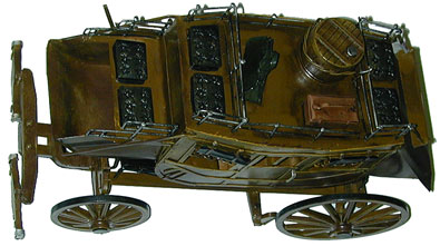 Metal Old West Stage Coach Model