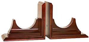 "4.5"" Mahogany Bookend Base by Chelsea"