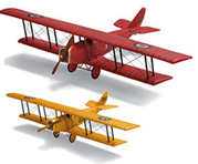 LARGE HANGING WOOD MODEL AIRPLANES