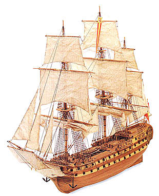 San Juan Nepomuceno Wood Model Ship Kit
